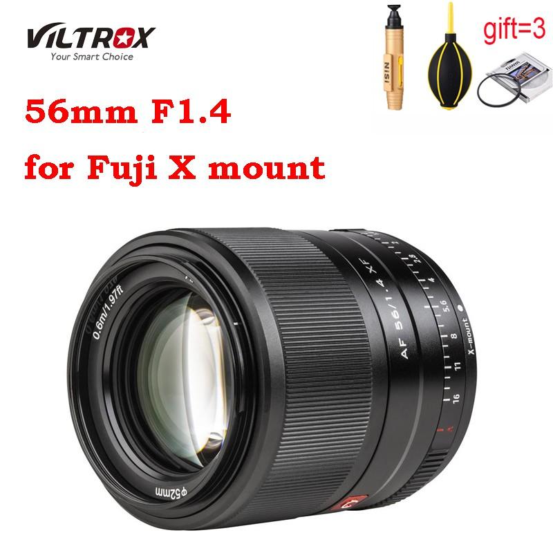 # เลนส์กล้องวิดีโอดิจิตอลViltrox 56mm F1.4 for Fujifilm X balck silver Lens XF Large Aerture Autofocus ortrait XT30 XT3