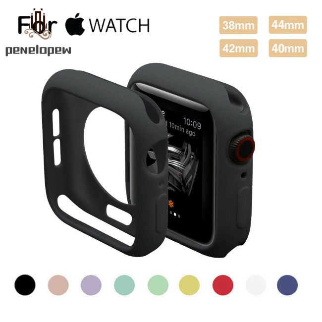 【HOT】 For Apple Watch Series 4 3 2 1 Bumper Silicone Protector Case Cover 38/40/42/44mm