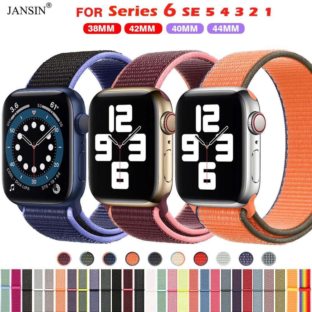 สายนาฬิกาข้อมือ สำหรับ Apple Watch iwatch 6 SE 5 4 3 2 1 ขนาด 42มม 38มม 40มม 44 มม สาย applewatch