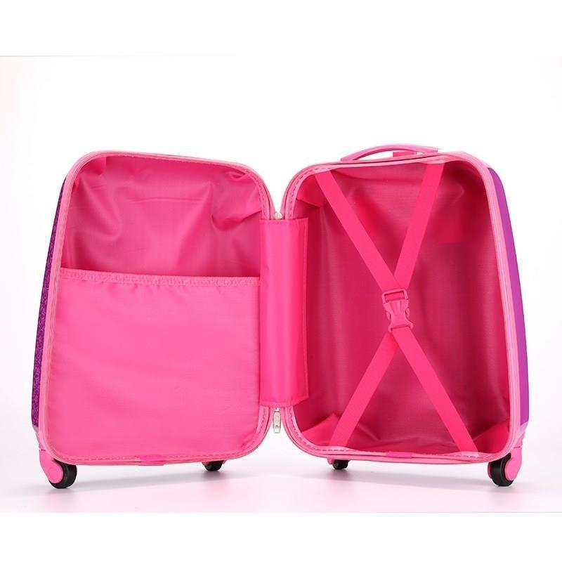 つ◕กระเป๋าเดินทางเด็ก  กระเป๋ารถเข็นเดินทาง กระเป๋าเดินทางพกพา กระเป๋าเดินทางเด็กรถเข็นเด็กสาว 16 นิ้วเจ้าหญิงเด็กการ์ตูน