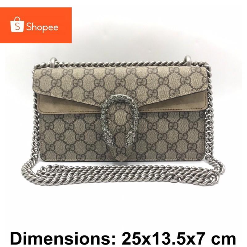 Gucci dionysus small ขนาดใหม่ สายยาวขึ้น crossbodyได้ ของแท้ ส่งฟรีEMS ทั้งร้าน