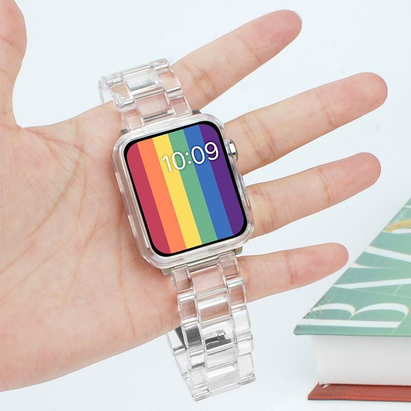 สายนาฬิกาข้อมือใสสําหรับ Apple Watch Iwatch 6