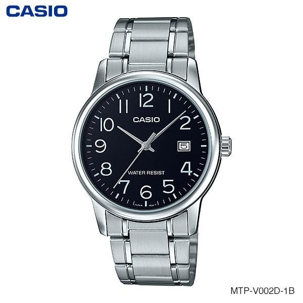 CASIO STANDARD นาฬิกาผู้ชาย สายสแตนเลส รุ่น MTP-V002D-1Bนาฬิกา casio ผู้หญิงนาฬิกา casio ชาย
