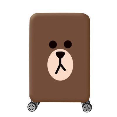 สำหรับ 18-32 นิ้ว ผ้าคลุมกระเป๋าเดินทาง ลาย หมีบราวน์ พื้นน้ำตาล (เฉพาะลายนี้มีลายด้านเดียวค่ะ)