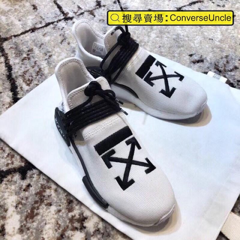 [Company] OFF WHITE x Pharrell x adidas NMD Hu Race Trail รองเท้ากีฬาร่วมไตรภาคี