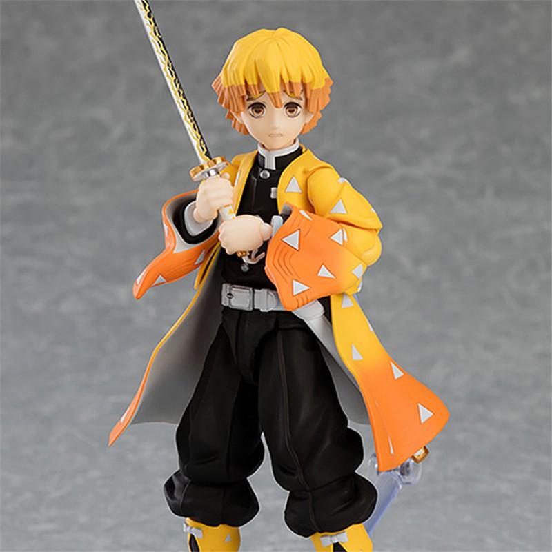 ของเล่นรูปสองมิติ  reSale Demon Slayer Agatsuma Zenitsu Anime Action Figure Jaanese HandMade Collection vc Model Toys Gi