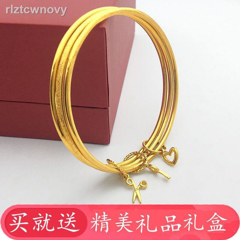 ❤ลดราคา❤✗2020 ใหม่เวียดนามทรายทองสร้อยข้อมือหญิง Sansheng III สร้อยข้อมือทองคำขาวเครื่องประดับชุบทองสร้อยข้อมือทองคำขาว