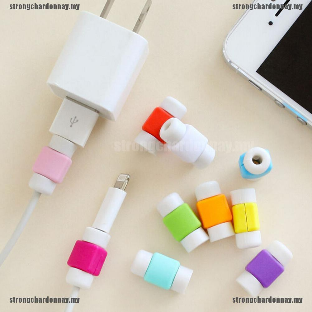 ( Sc ) 1 X ตัวถนอมสายชาร์จสําหรับ Apple Iphone Cord ( My )