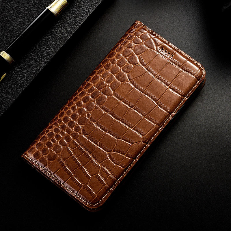 Crocodile Genuine Leather Case Flip Cover For Samsung Galaxy A3 A5 A6 A7 A8 A9 C5 C7 Pro Plus 2015 2016 2017 2018 Phone