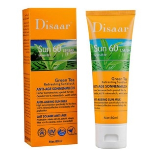 80ML SPF60/90+ Refreshing Facial Sunscreen Cream Moisturizing Sun