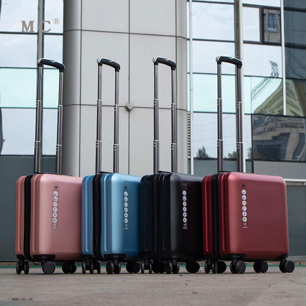 ☁❁♈กระเป๋าเดินทางสำหรับธุรกิจขนาดเล็กและน้ำหนักเบา กระเป๋าเดินทางสำหรับรถเข็นสำหรับสุภาพสตรีขนาด 18 นิ้ว ผู้ชาย 20 นิ้ว