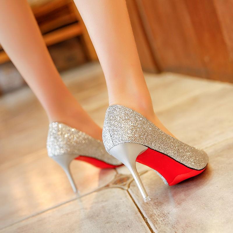 รองเท้า gg รองเท้านักเรียน รองเท้าคัชชู bataรองเท้าแตะแฟชั่นผู้หญิง รองเท้าแต่งงานผู้หญิงใหม่แหลมกริชส้นสูงคริสตัลรองเท้