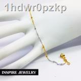 🔥มีของพร้อมส่ง🔥ลดราคา🔥●☁♈Inspire Jewelry สร้อยข้อเท้า 2 กษัติรย์ยาว 23 ซม. หุ้มทองแท้ 100% และทองขาว / ทองคำขาวและท