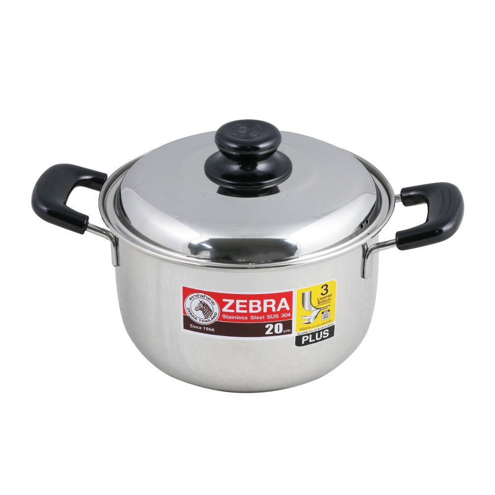 หม้อต้ม ZEBRA WISDOM INFINITY 20 ซม. เครื่องครัว Kitchenware Cookware Pan Wok Pot