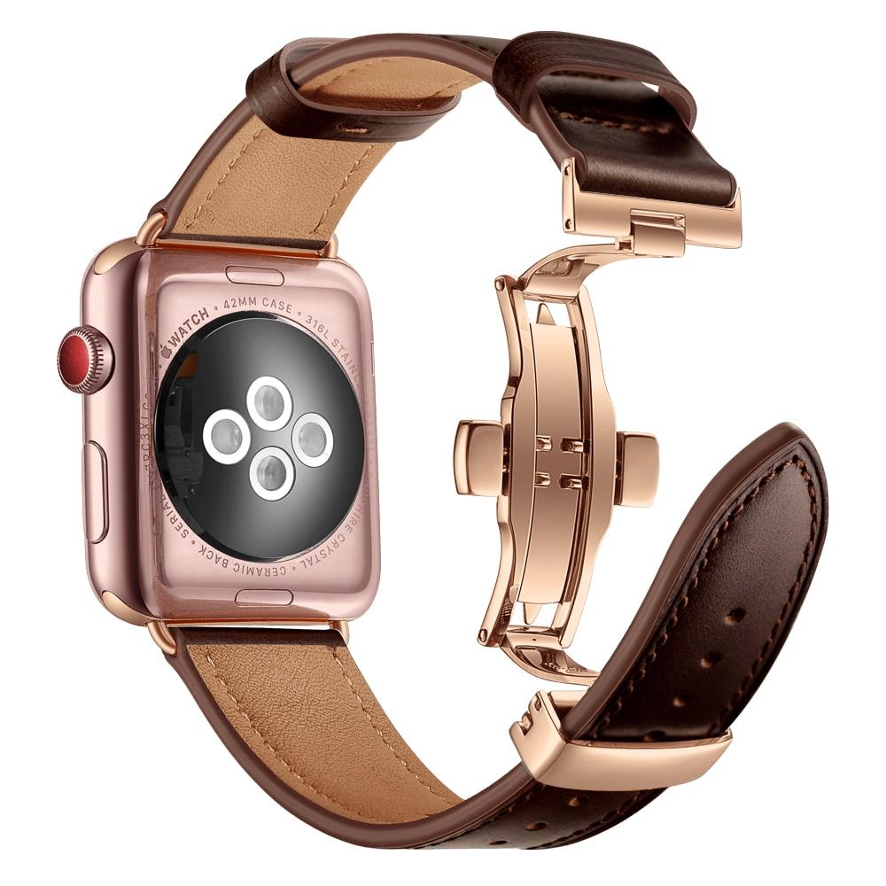 สายนาฬิกาข้อมือหนัง 20 สําหรับ Apple Watch Band 38/42/40/44 มม. Series 5 4 3 2 Iwatch