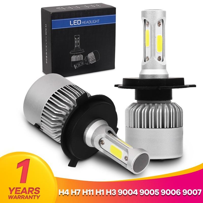 H7 LED Headlight Bulbs Conversion Kit Hi//Lo Beam 55W 8000LM 6000K High Bright