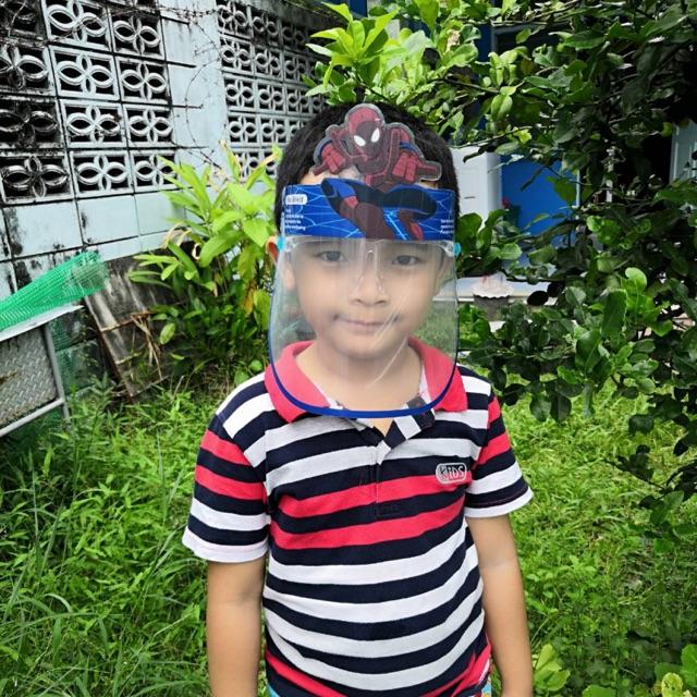 เฟสชิวเด็ก เฟสชิวเด็กแบบแว่น เฟสชิวน่ารักๆหน้ากากเด็ก เฟสชิวการ์ตูน Face Shield