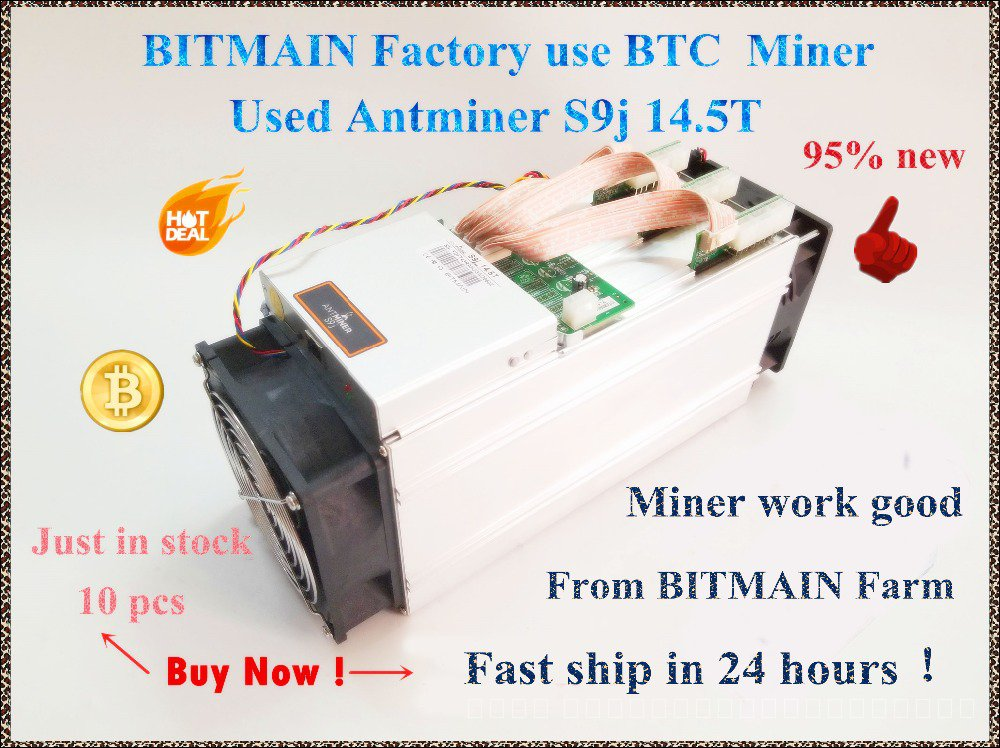90%-95% ใหม่AntMiner S9j 14.5T Bitcoin Asic Btc BCH Minerดีกว่าS9 S9i 13T 13.5T 14T WhatsMiner M3 M3X BITMAIN Mining Far