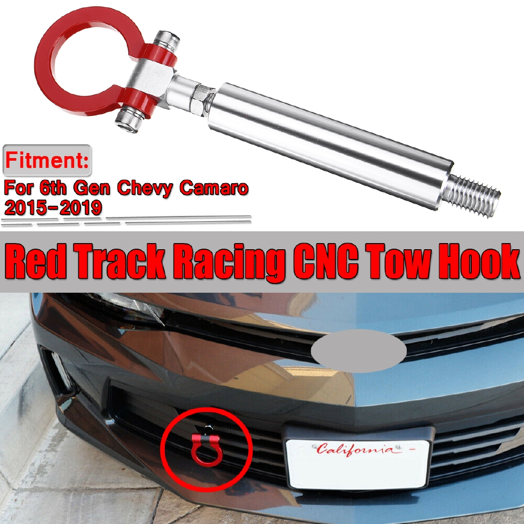 Track Racing Style CNC Aluminum Tow Hook For 6th Gen Chevrolet Camaro