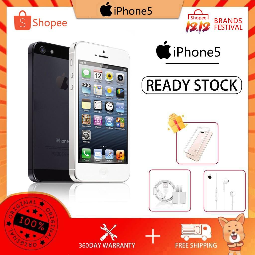 Apple iphone5 มือถือราคาถูก iphone 16/32GB ของแท้ 100% มือสอง ไอโฟน5 โทรศัพท์ราคาถูก 5S ไอโฟนมือ2 โทรศัพท์มือสอง COD