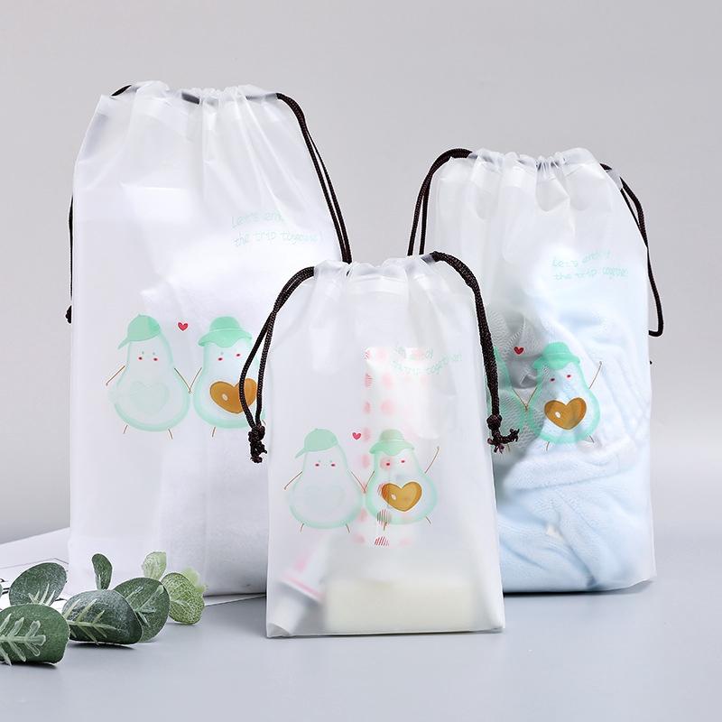 กระเป๋าเป้สะพายหลังหูรูดถุงหูหิ้ว drawstring ใสฝ้ากันน้ำถุงเก็บเดินทางธุรกิจเสื้อผ้าจบถุงเก็บ