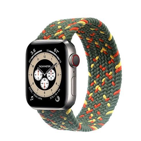 สายนาฬิกาข้อมือไนล่อนถักสําหรับ Apple Watch Band 44 มม . 40 มม . 38 มม . 42 มม . Iwatch Series 3 4 5 Se 6