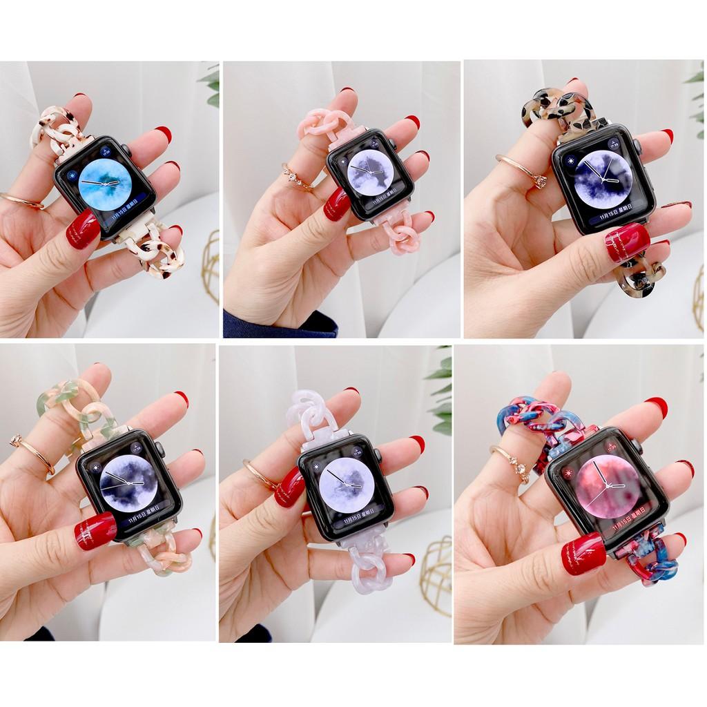 ใหม่ สายนาฬิกา Apple Watch Resin Straps เรซิน สาย Apple Watch SE Applewatch Series 6 5 4 3 2 1, Stainless Steel สายนาฬิก
