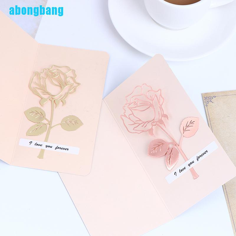 Abongbang 1PC Rose Metal Bookmark Rose Gold Clips for Books Paper Office Supplies