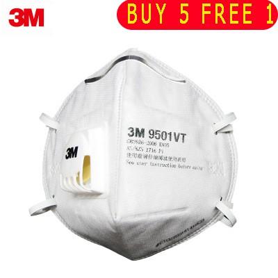 【READY STOCK】3M หน้ากาก KN95 ป้องกันฝุ่น 9501VT ป้องกันหมอก PM2 5