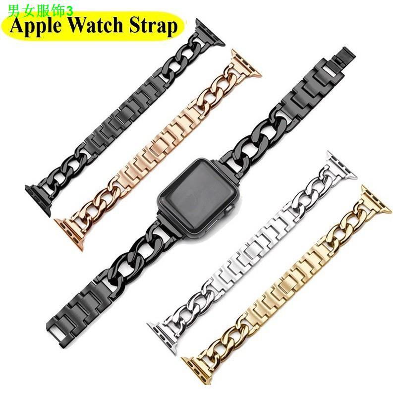 【ที่ต้องการ】¥%   Luxury Chain สายนาฬิกา Apple Watch Straps เหล็กกล้าไร้สนิม สาย Applewatch Series 6 5 4 3 2 1, SE Stainl