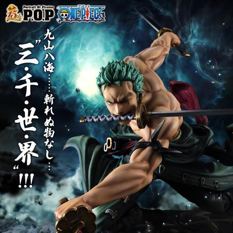 【READY STOCK】Hot Selling One Piece 18cm Anime Figure Roronoa Zoro 1/8 Threeblade Samaximum Ver. PVC Action Figure Collec
