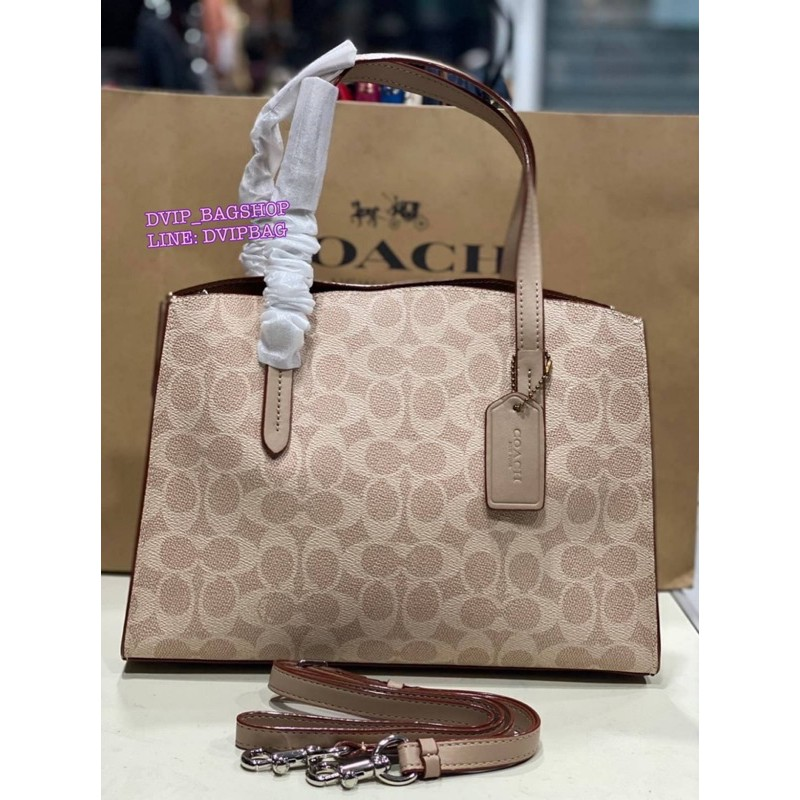 Coach Charlie Carryall 28 in Signature Canvas แท้ Coach Factory