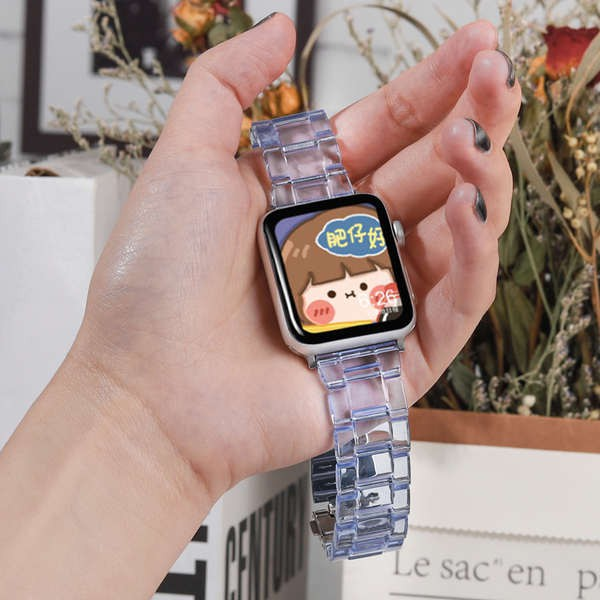 สาย applewatch สายรัด Apple iwatch หนึ่งเรซินรวมทุกอย่างธารน้ำแข็งใส Apple Watch สายรัด Applewatch iwatch5 / 4/3 / รุ่น
