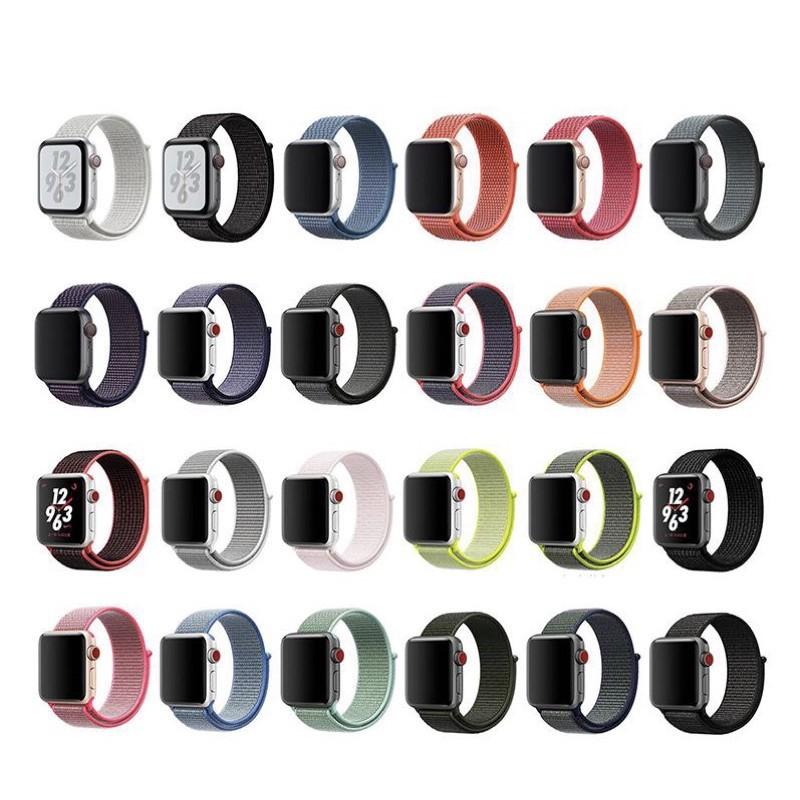 สาย applewatch applewatch series 6 สายไนลอนลูป Apple Watch Series 1-6 New Sport Nylon Loop Band Strap