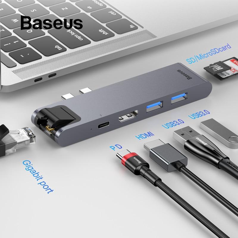 7in1 Aluminum USB Type-C Port Pro Hub HDMI Adapter For MacBook Pro 2016//2017 USA