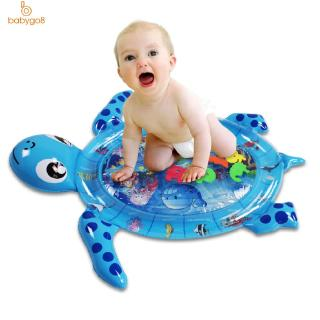 Baby Inflatable Newborn Water Pad (Turtle) Cartoon Turtle Baby Water Pad Large Inflatable Prone Pat Water Play Cushion