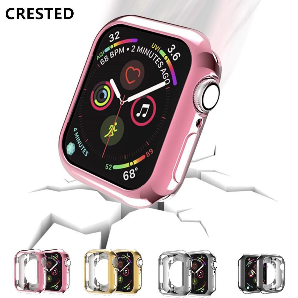 เคสนาฬิกาข้อมือซิลิโคน Tpu สําหรับ Apple Watch Case 44mm 40mm Iwatch Series 4 5
