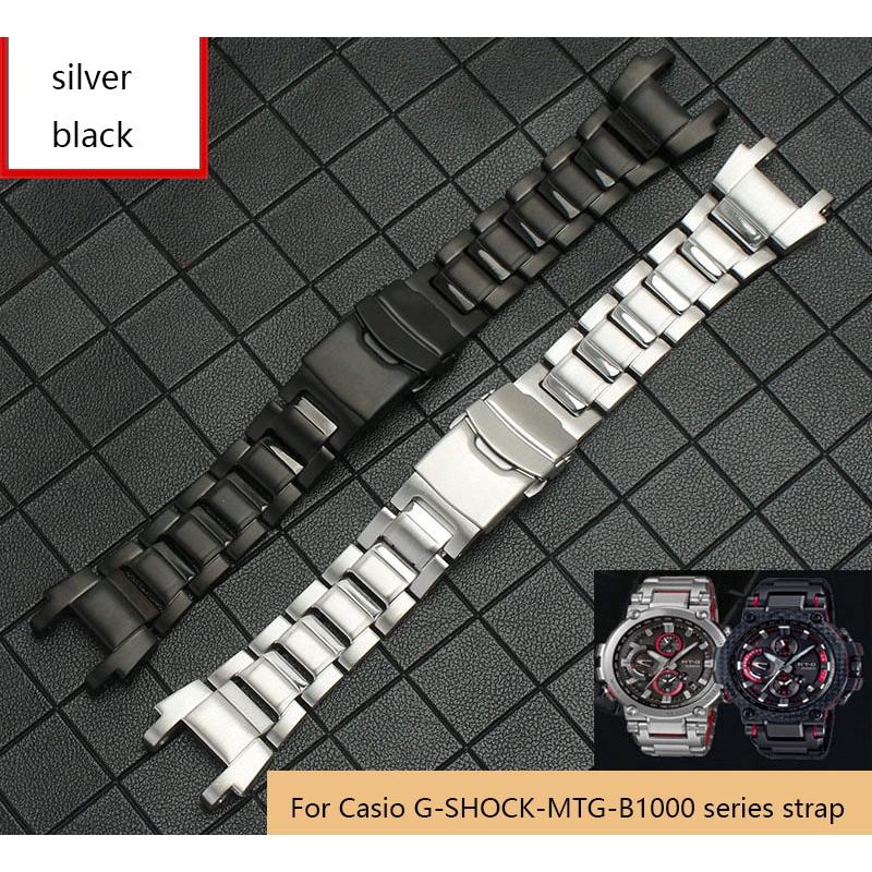 สายนาฬิกาข้อมือสแตนเลสสําหรับ Casio G - Shock Mtg - B 1000 Series
