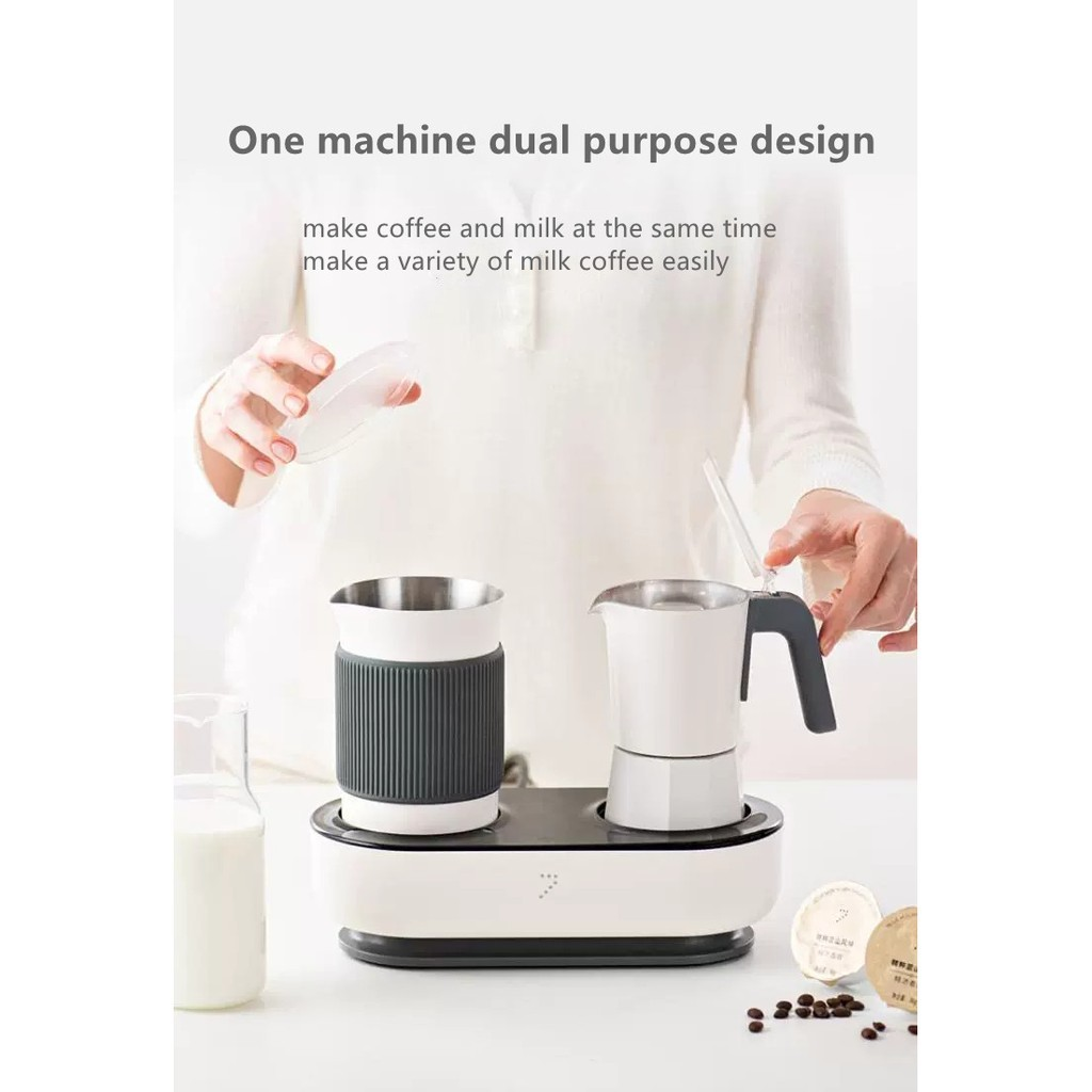 กาแฟแคปซูล เมล็ดกาแฟ เครื่องชงกาแฟแคปซูลเครื่องทำฟองนมหม้อกาแฟแฟนซีชุดโมกะหม้ออิตาเลี่ยน
