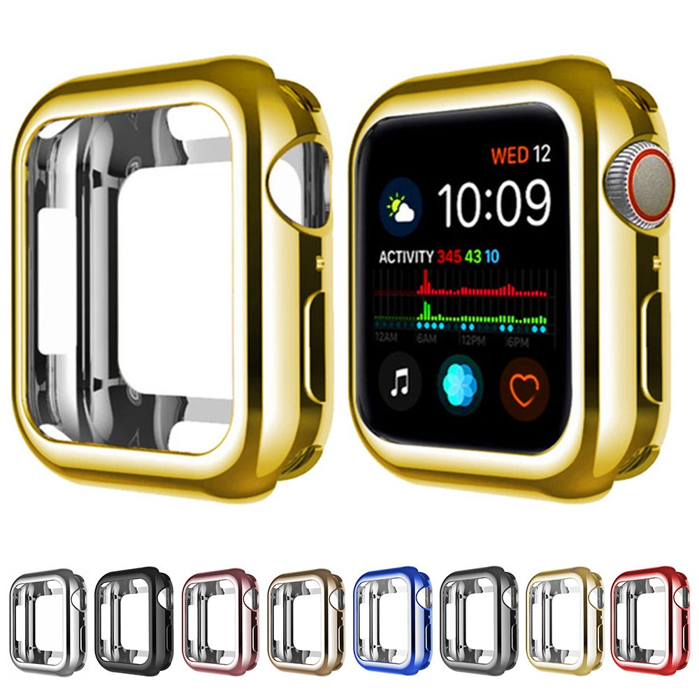 【Ready Stock 】 360 Slim Watch Cover for Apple Watch Case series 6 5 4 3 2 1 42MM 38MM Soft Clear TPU Screen Protector 44MM 40MM Accessories