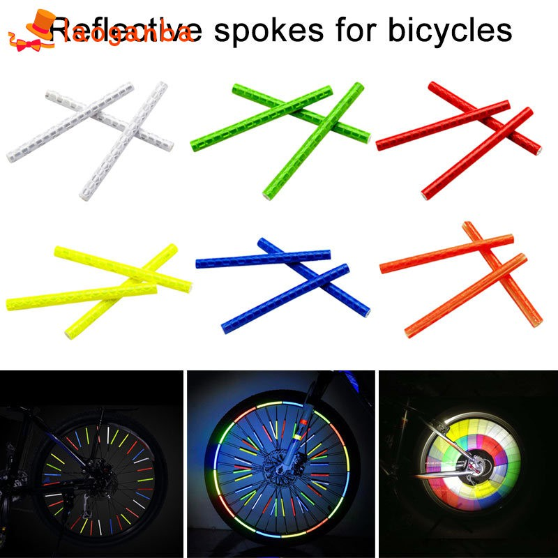 24 x BIKE BICYCLE CYCLING SPOKE WHEEL REFLECTOR REFLECTIVE STOCKING FILLER