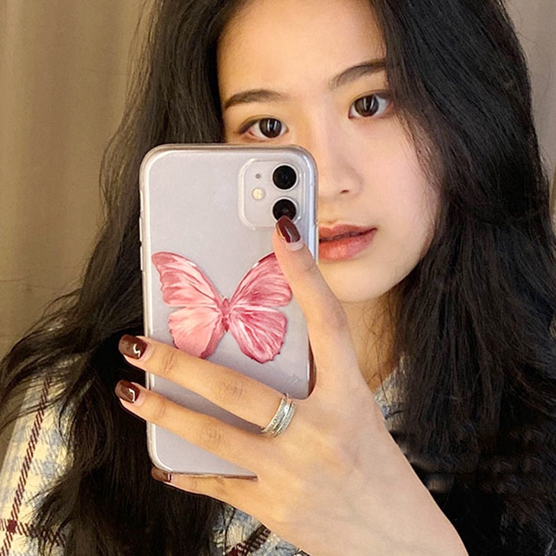 Korean style pink butterfly Soft Case Samsung J8 2018 J6 2018 J6Plus/J6+ J4 2018 J4Plus/J4+ J2PRO 2018 J7Plus J7Pro/J7 2017 J5Pro/J5 2017 J3Pro/J3 2017 J7Prime J5prime J2prime J710/J7 2016 A71 Note9 Note10 Note8 Note10Plus A51
