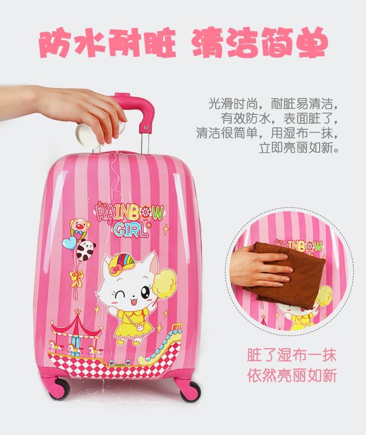 ❂⅕กระเป๋าเดินทางเด็ก  กระเป๋ารถเข็นเดินทางการ์ตูนเด็กรถเข็นกระเป๋าเดินทางหญิงเด็กกระเป๋าเดินทางชายเด็ก 16 นิ้ว 18 นิ้วกร