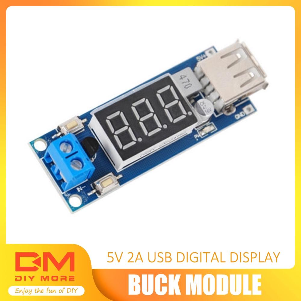 12A Digital LCD Display Buck Step Down Power Supply Board Module Adjustable