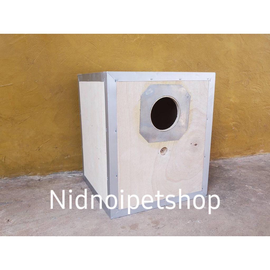 ❦┇✁กล่องเพาะนก( กล่องเพาะ ทรงเหลี่ยมสั้น )รังเพาะนก กล่องนอน บ้านนก หงส์หยก เลิฟเบิร์ด ค็อกคาเทล ฟอพัส ฟินซ์ ราคาโรงงานเ