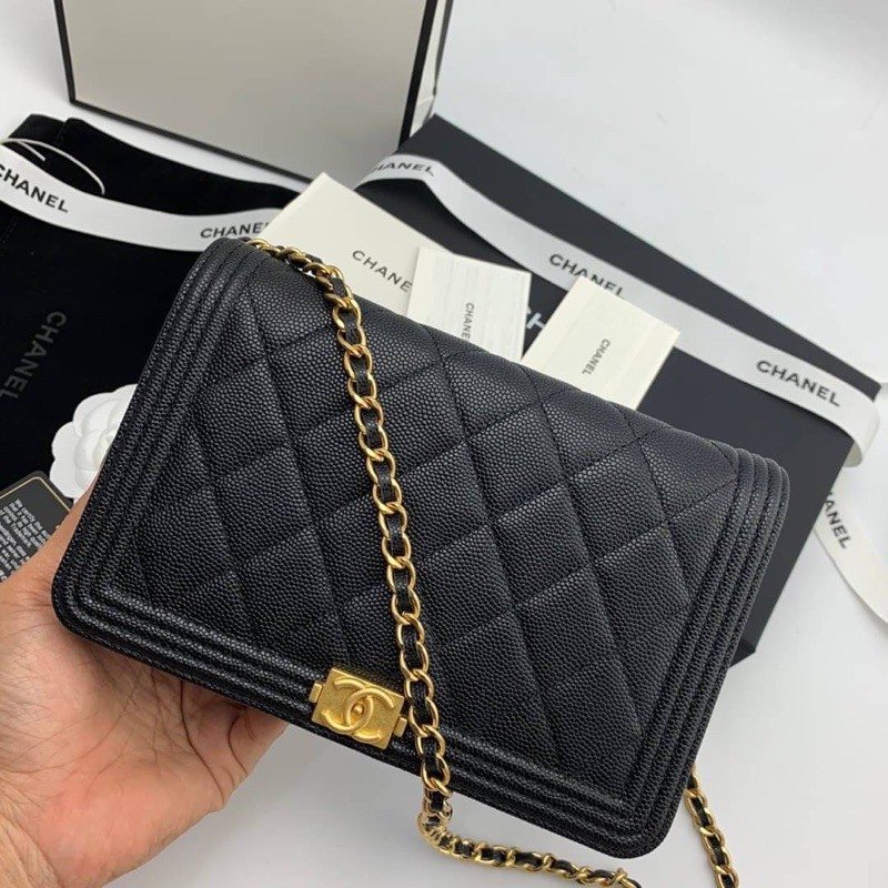 Chanel woc boy งาน original leather