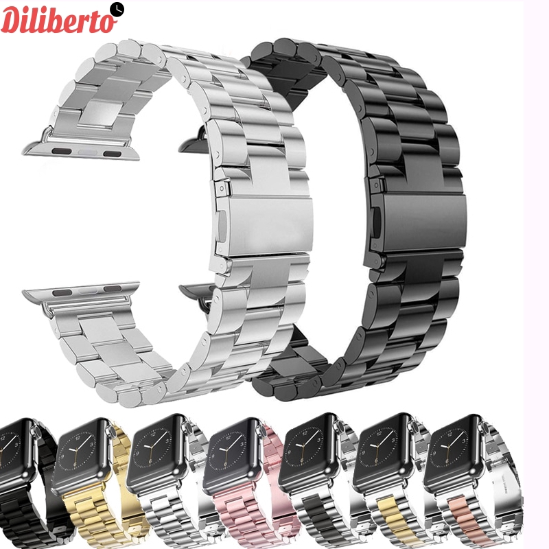 Watch Strap Stainless Steel Apple Watch 42mm 38mm 1/2/3/4 Metal Watchband for iWatch Series 4 5 44mm 40mm