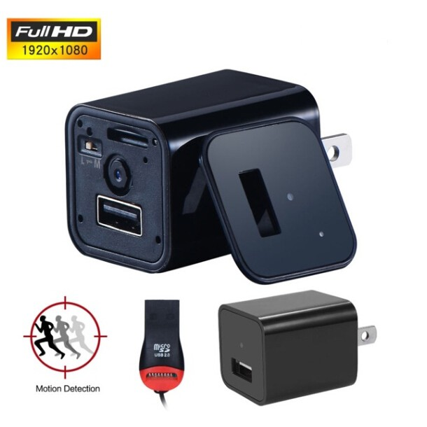 WIFI HD 1080P Hidden Camera AC Adapter USB Wall Charger Security Nanny Cam