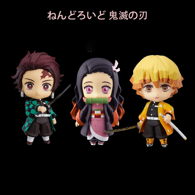Anime Demon Slayer Kamado Tanjirou Agatsuma Zenitsu Kochou Shinobu Kimetsu no Yaiba VC Action Figure Toys Collection Dol