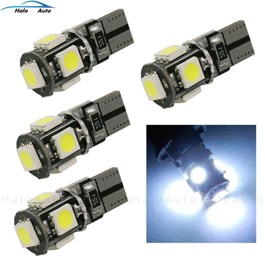 Dash Interior Light Lamp Bulb Side 2x Green 501 T10 Car LED